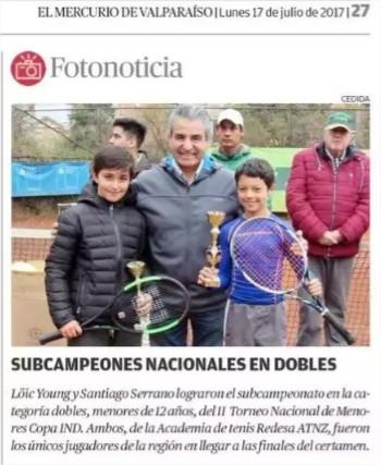 VICE-CAMPEONES DEL TORNEO NACIONAL DE TENIS DE MENORES