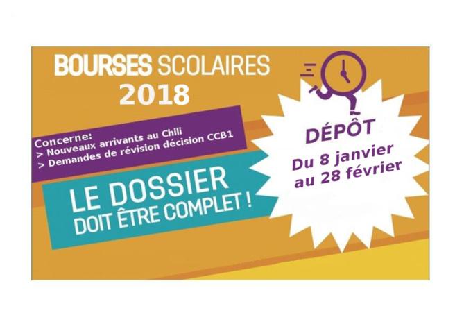 BOURSES SCOLAIRES 2018 - BECAS ESCOLARES 2018
