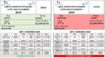 TARJETAS DE IDENTIFICACIÓN EN SECUNDARIA- Communicación del 21 de marzo