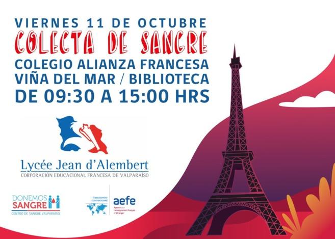 Donación de sangre Lycée Jean d'Alembert (CDI)