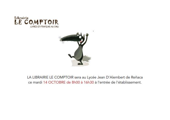 La librairie Le Comptoir au Lycée le 14 de octobre