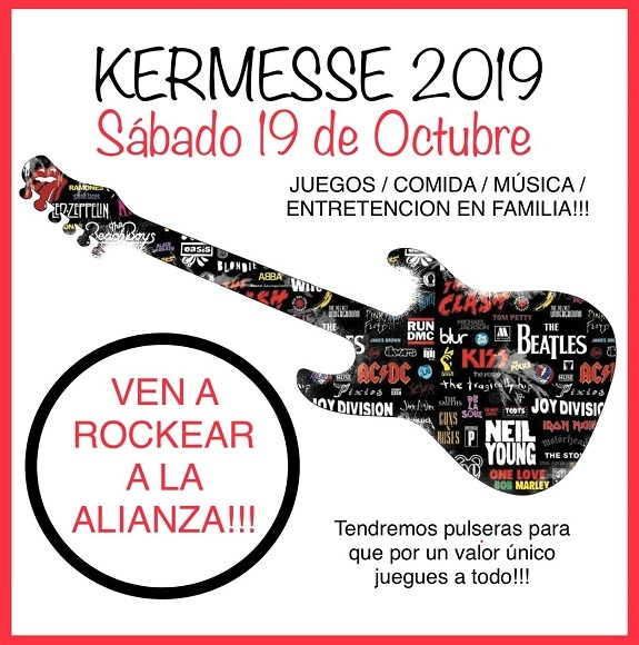 Kermesse 2019: Ven a rockear a la Alianza!