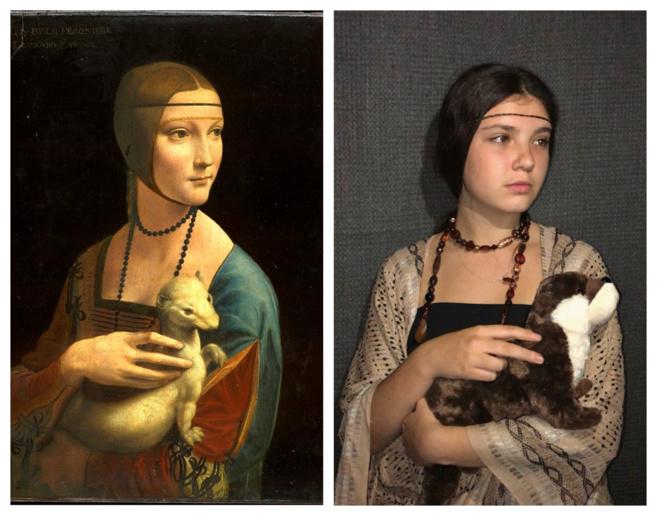 Los alumnos de 3ème B representan cuadros de la época del Renacimiento y del movimiento Barroco