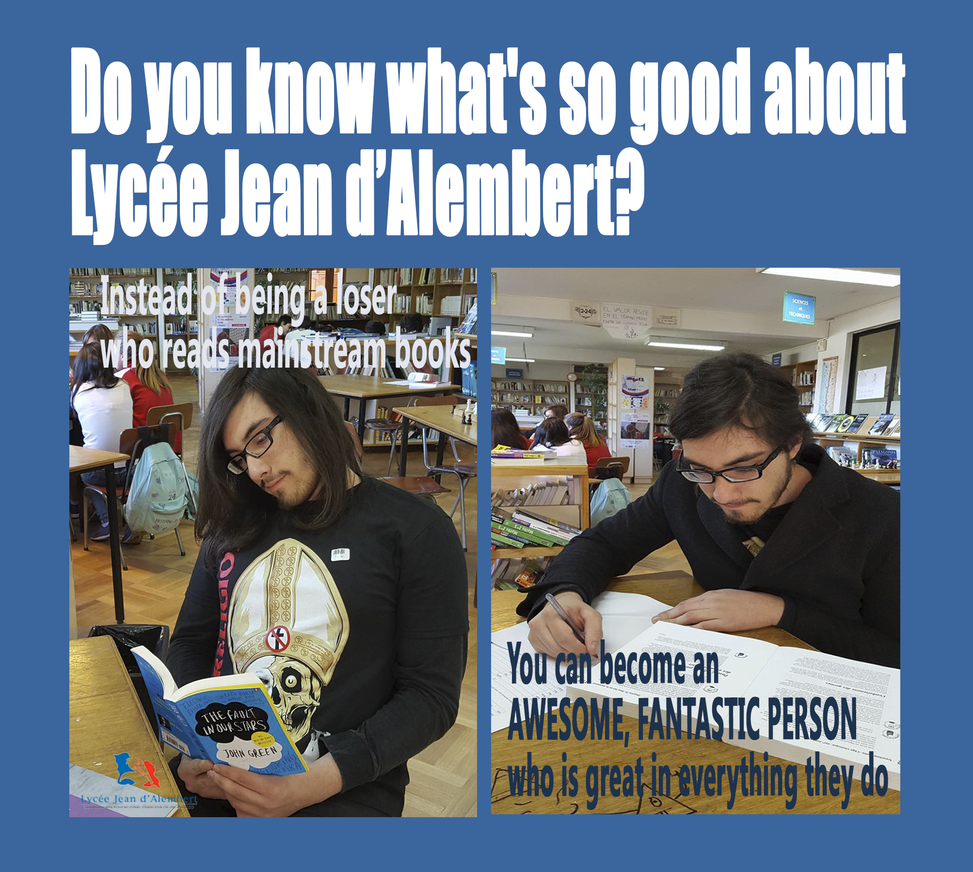 Welcome to Lycée Jean d'Alembert!