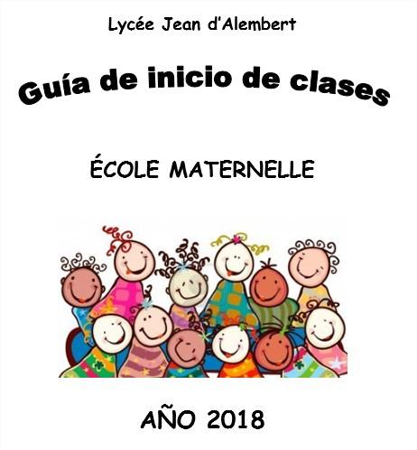 GUÍA DE INICIO A LA MATERNELLE 2018