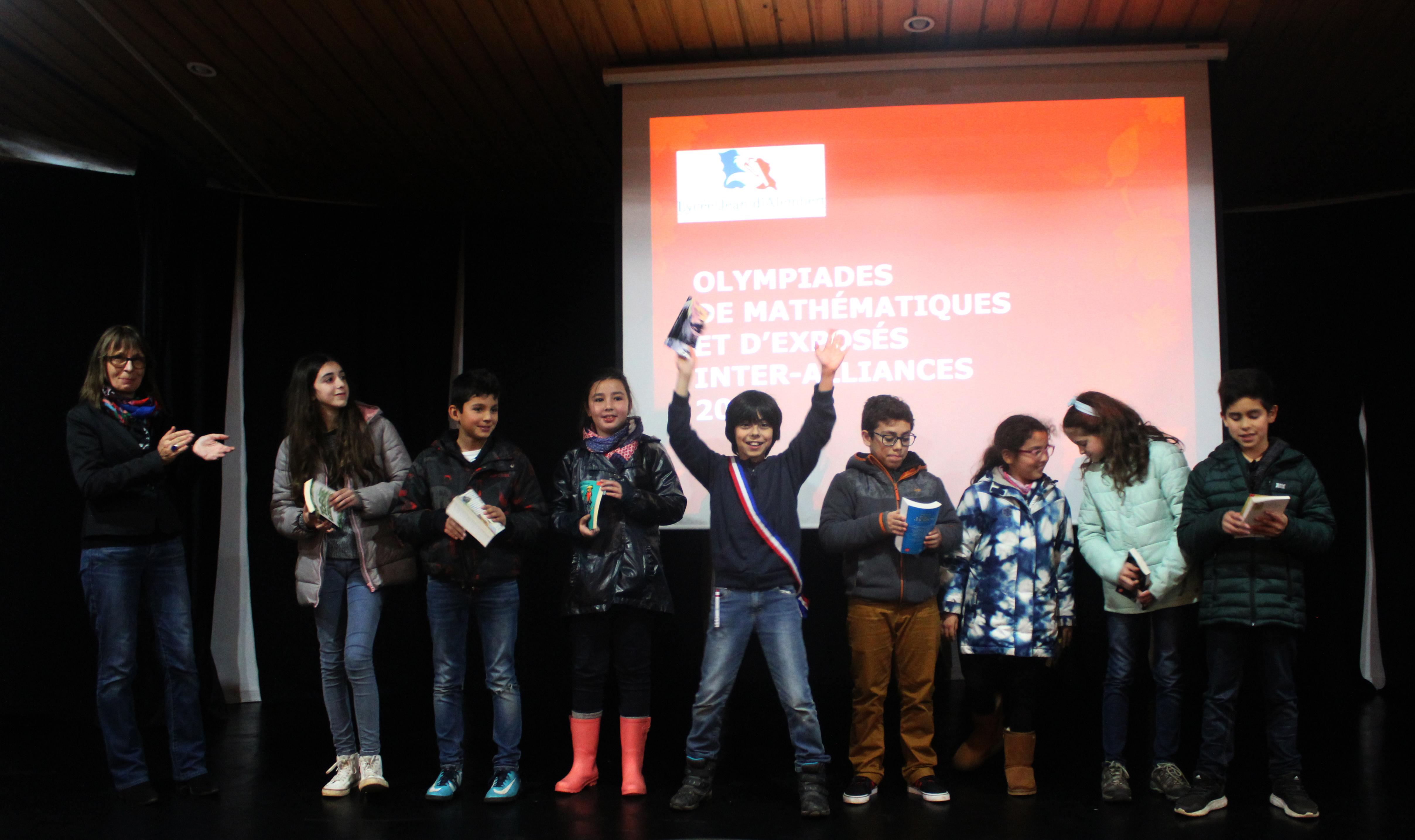 Prix remis aux élèves par notre Directrice du Primaire, Martine Paillard