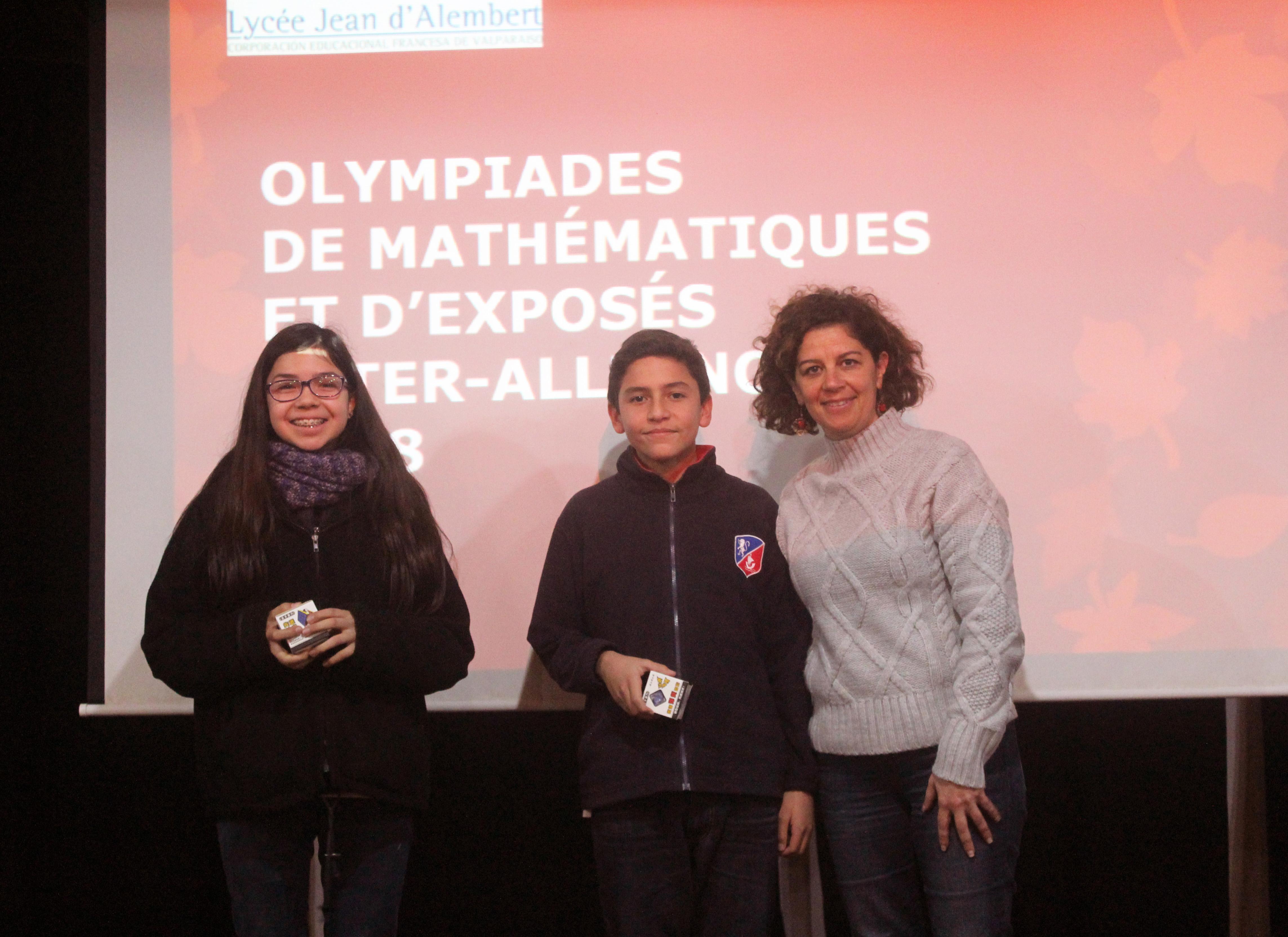 Prix remis par notre proviseure adjointe, Francisca González