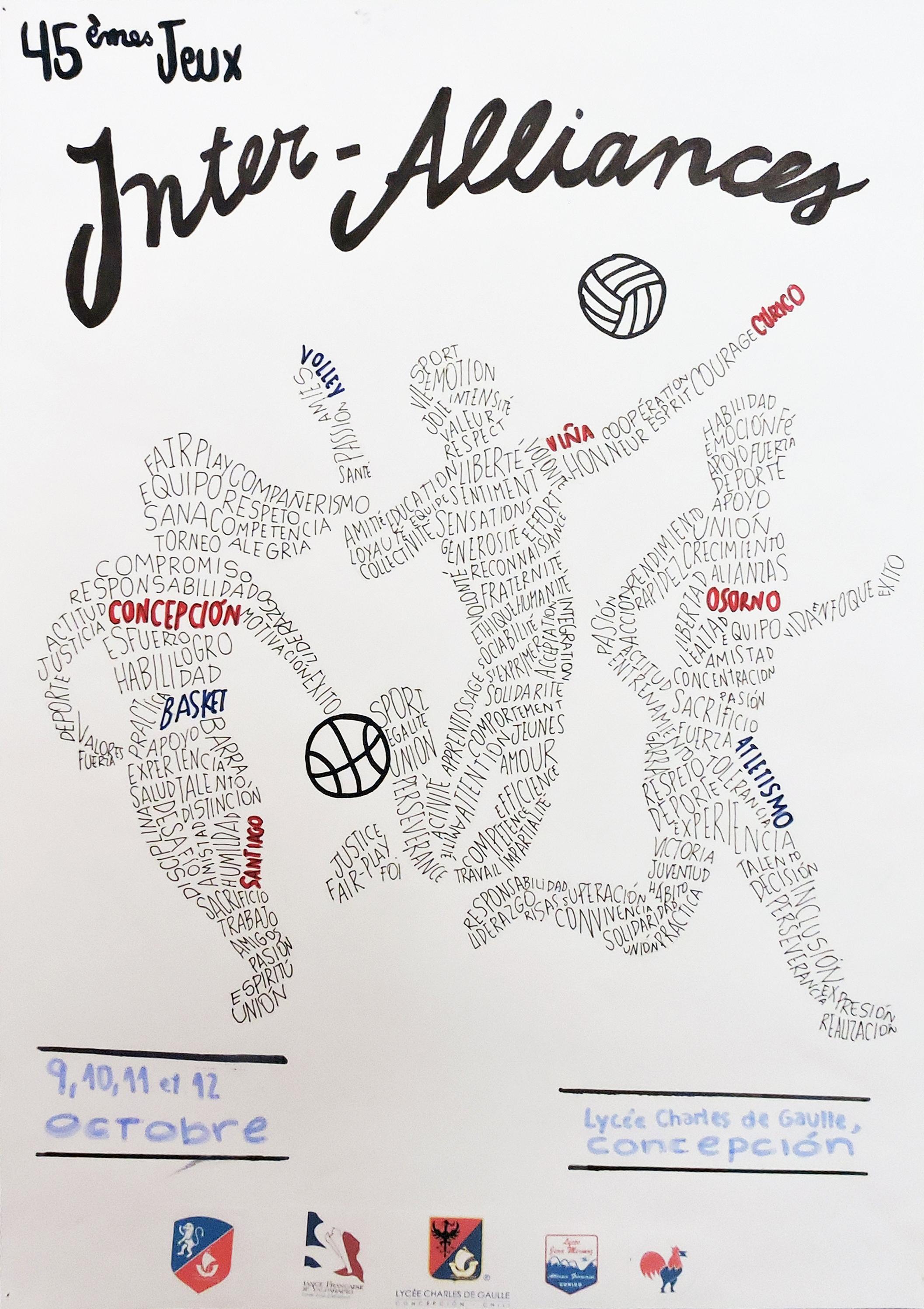 Resultado del concurso de afiches de los XLV Juegos Inter Alianzas