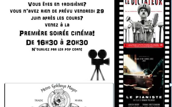 SOIRÉE CINEMA LE VENDREDI 29 JUIN