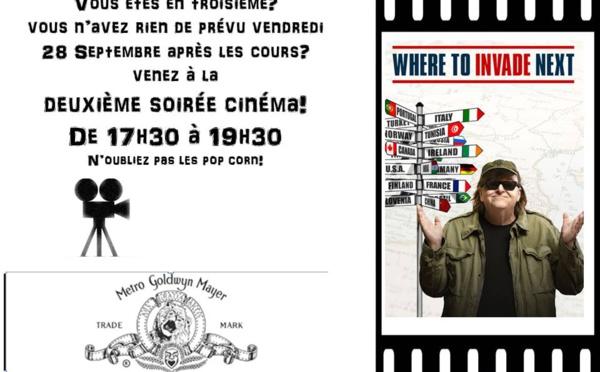 VIENS À LA SOIRÉE CINÉMA DU VENDREDI 28 SEPTEMBRE !