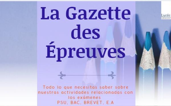 Boletín Informativo Exámenes Secundaria - La Gazette des Épreuves