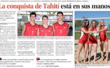 DIEGO ARANDA, DIEGO JILIBERTO Y ESTEBAN ARANDA A LA CONQUISTA DE TAHITÍ - Mundial  escolar de Voleibol playa