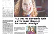 INFLUENCIA DEL ARTE - ENTREVISTA DE NUESTRA ALUMNA POR EL MERCURIO DE VALPARAÍSO