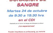 JORNADA DONACION DE SANGRE EN EL LICEO