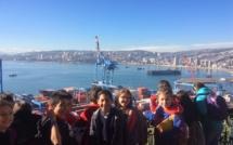 En sortie à Valparaíso avec les CM1