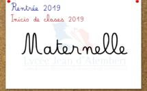 Rentrée Maternelle 2019: Informaciones y lista de útiles