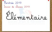 Rentrée Élémentaire (CP-CM2): Informaciones, lista de útiles, reuniones de inicio de año 2019