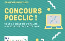 """Concours POECLIC 2019  autour de """"Dis-moi dix mots"""" - SFLJDA2019"""