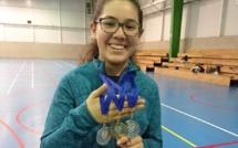 Florencia Reyes, 1er lugar y 2ndo lugar en Torneo de Bádminton