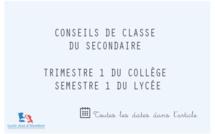 Conseils de classe du Trimestre/Semestre 1 : Collège et Lycée