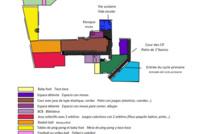 Plan de la cour élémentaire 2020