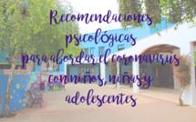 RECOMENDACIONES PSICOLÓGICAS PARA ABORDAR EL CORONAVIRUS CON NIÑOS, NIÑAS Y ADOLESCENTES