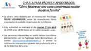 EL RECONOCIDO PSICÓLOGO, FELIPE LECANNELIER, DARÁ UNA CHARLA - NO QUEDAN CUPOS